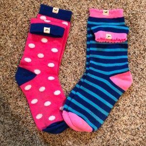 2 Pair Hollister Socks Set Stripe/Polka Dot Pink
